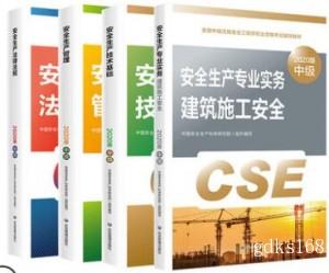2020年全国注册安全工程师执业资格考试指定教材(建筑施工安全)